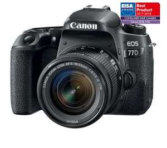 "Aparat fotograficzny - lustrzanka CANON EOS 77D, FHD, BT NFC, ekran 3"" + obiektyw 18-55 mm f/4-5.6 IS STM, dodatek:dozownik gratis"