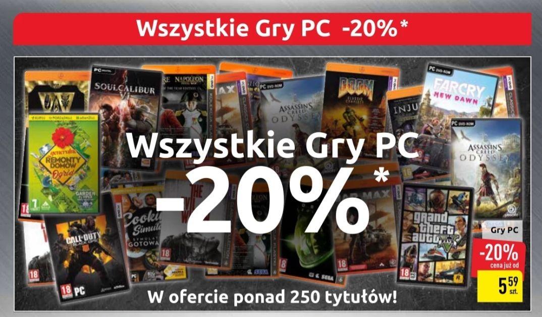 Wszystkie gry PC -20% Carrefour