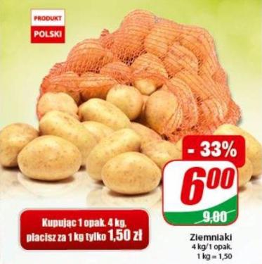 Ziemniaki myte w atrakcyjnej cenie w Dino