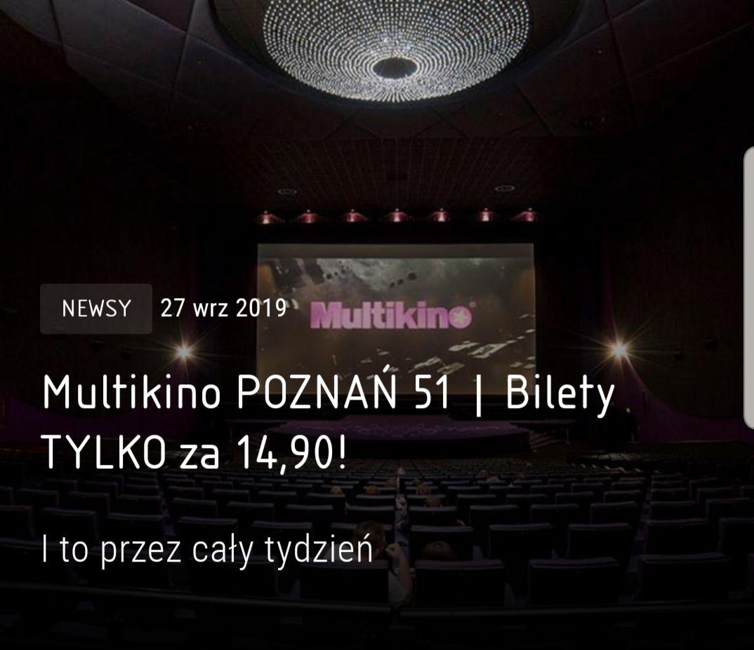 Multikino Poznań 51 Bilety za 14,90 zł