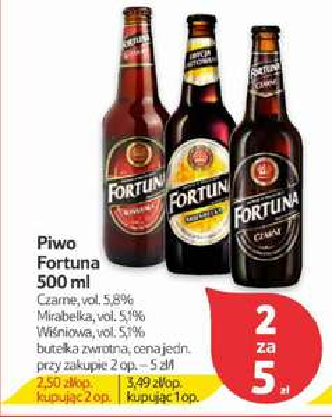 Piwo Fortuna 2,50 mega okazja @Tesco