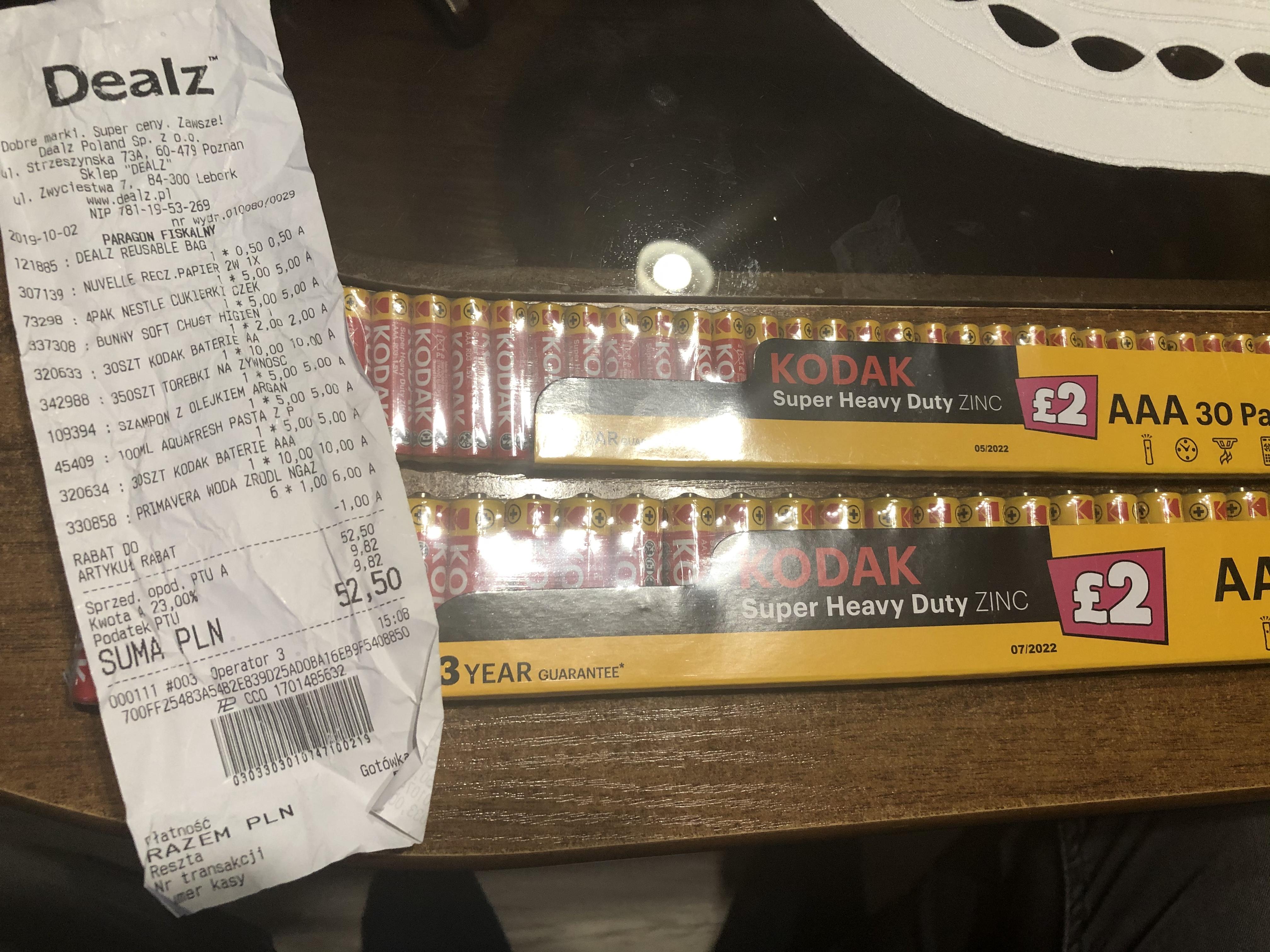 Baterie Kodak AA oraz AAA - 30 sztuk