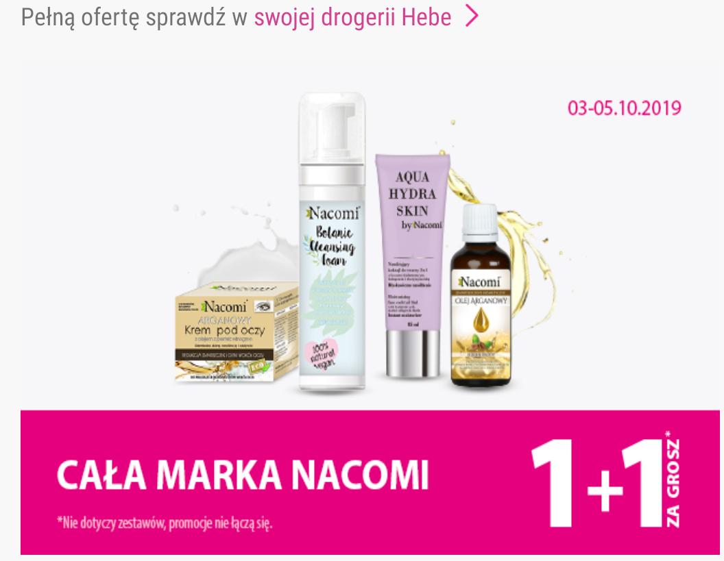 Cała marka Nacomi w drogerii Hebe 1+1 za grosz