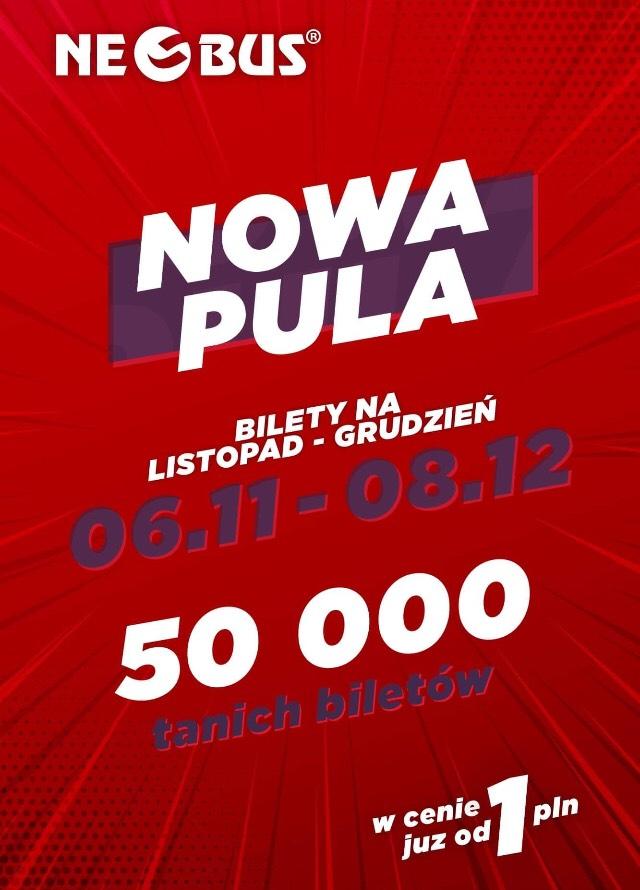 Pula 50000 biletów od 1 PLN