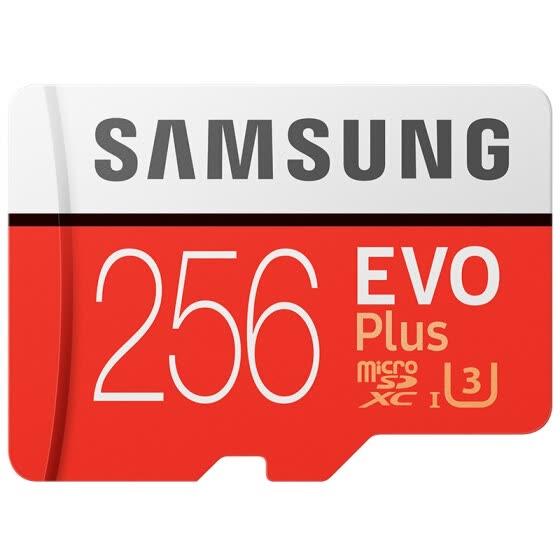 Samsung Evo Plus 256 GB Micro SD (34,99$)