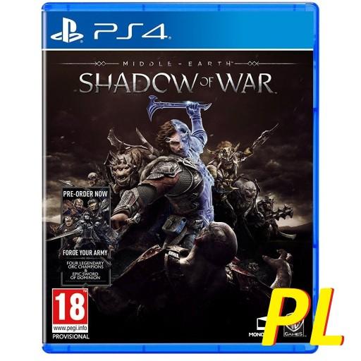 SHADOW OF WAR ŚRÓDZIEMIE CIEŃ WOJNY PL PS4/Xbox One