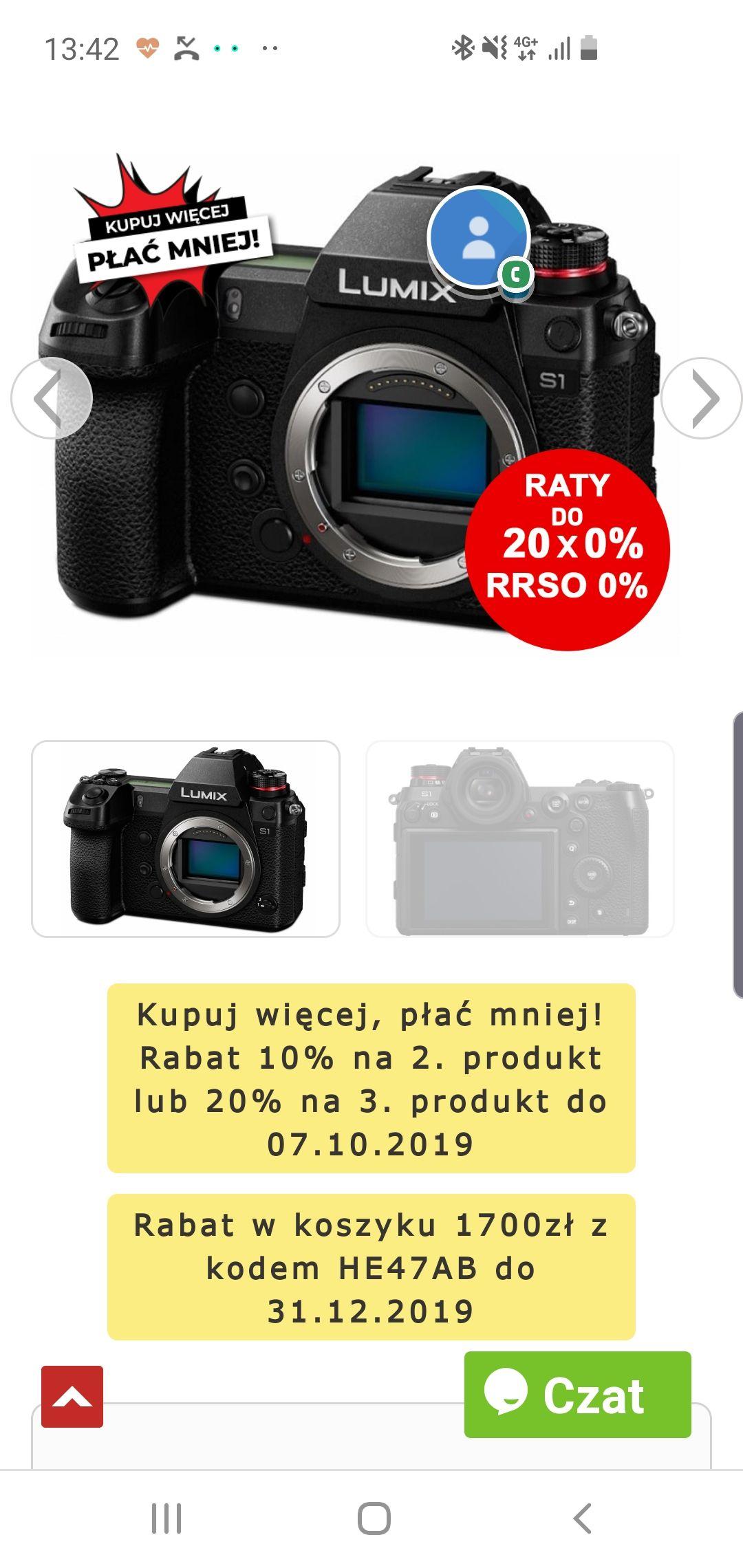 Aparat Panasonic Lumix S1