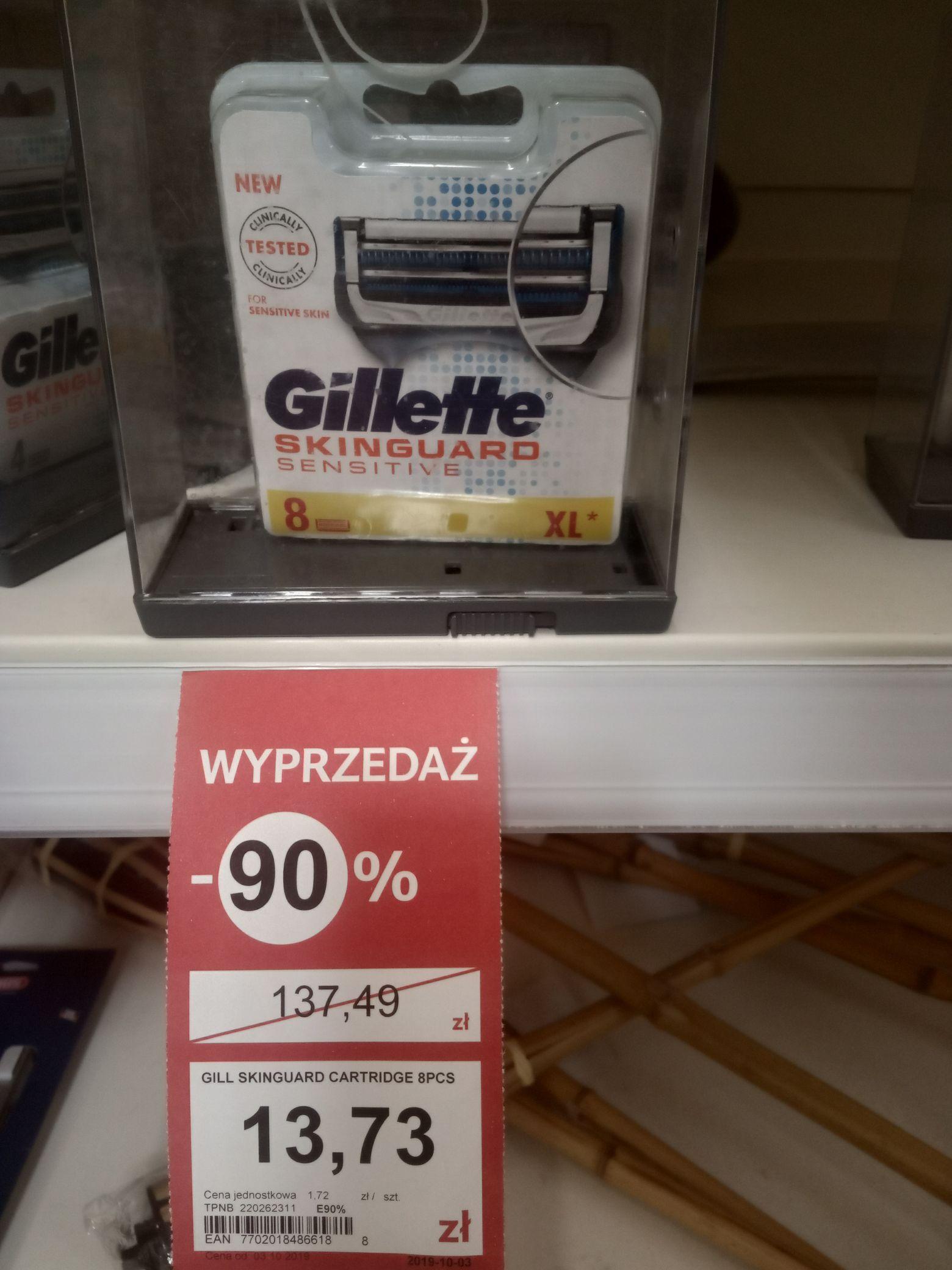 Gillette skinguard  8  sztuk xl Tesco