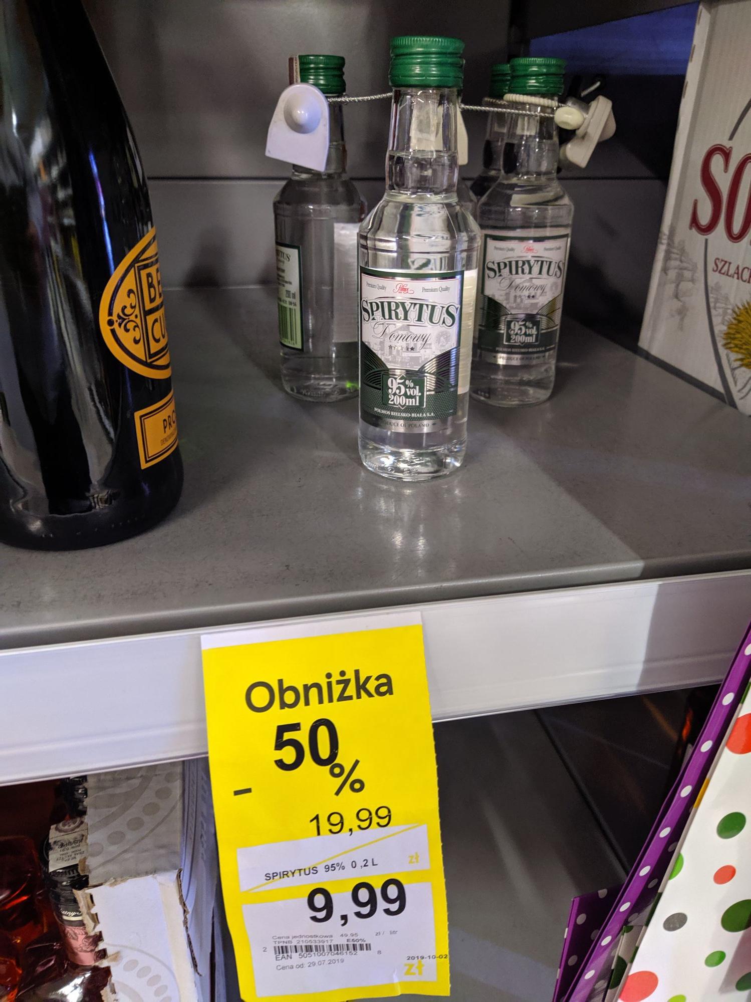 Spirytus 200ml - Tesco Oława