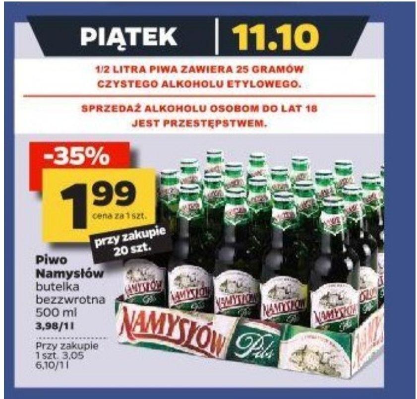 Piwo Namysłów. Cena przy zakupie 20 sztuk. Netto