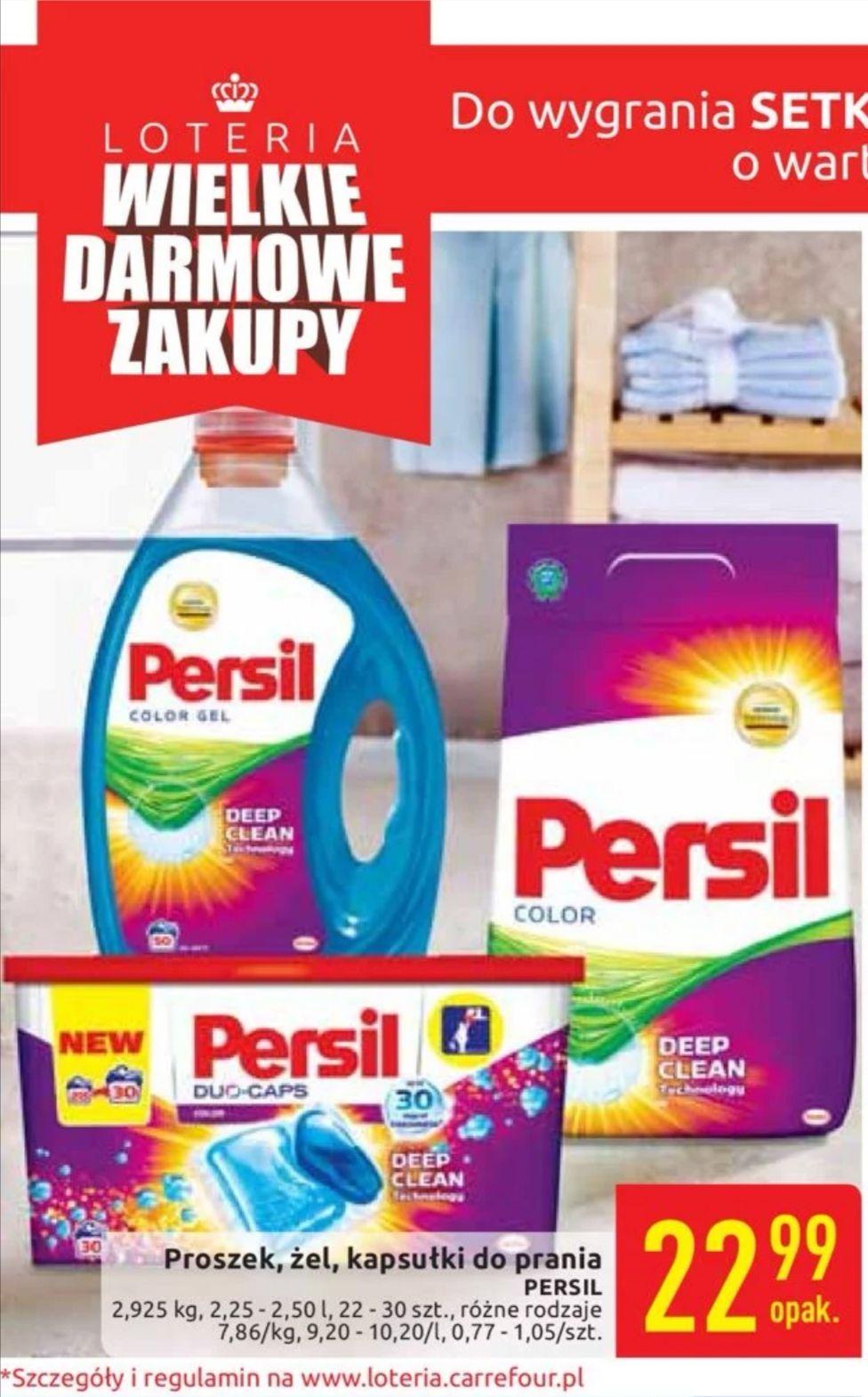 Artykuły do prania Persil w promocji - Carrefour