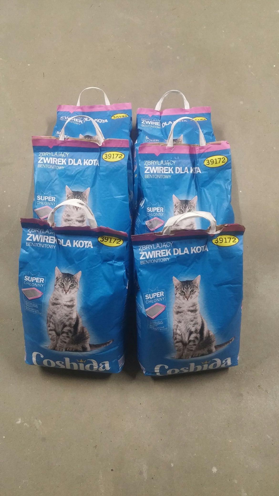 Żwirek dla kota 10kg za pół ceny w lidl z aplikacją i kupon -50% na karmy dla psów i kotów