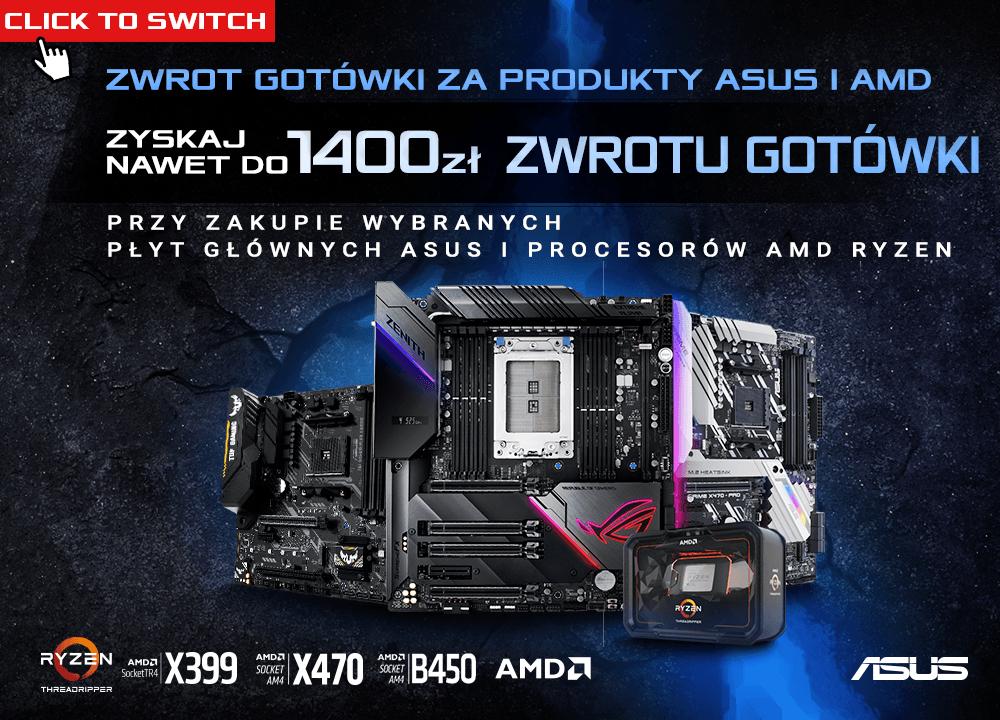 płyty X570, zestawy procesor + płyta AMD Ryzen / Threadripper - Asus Cashback