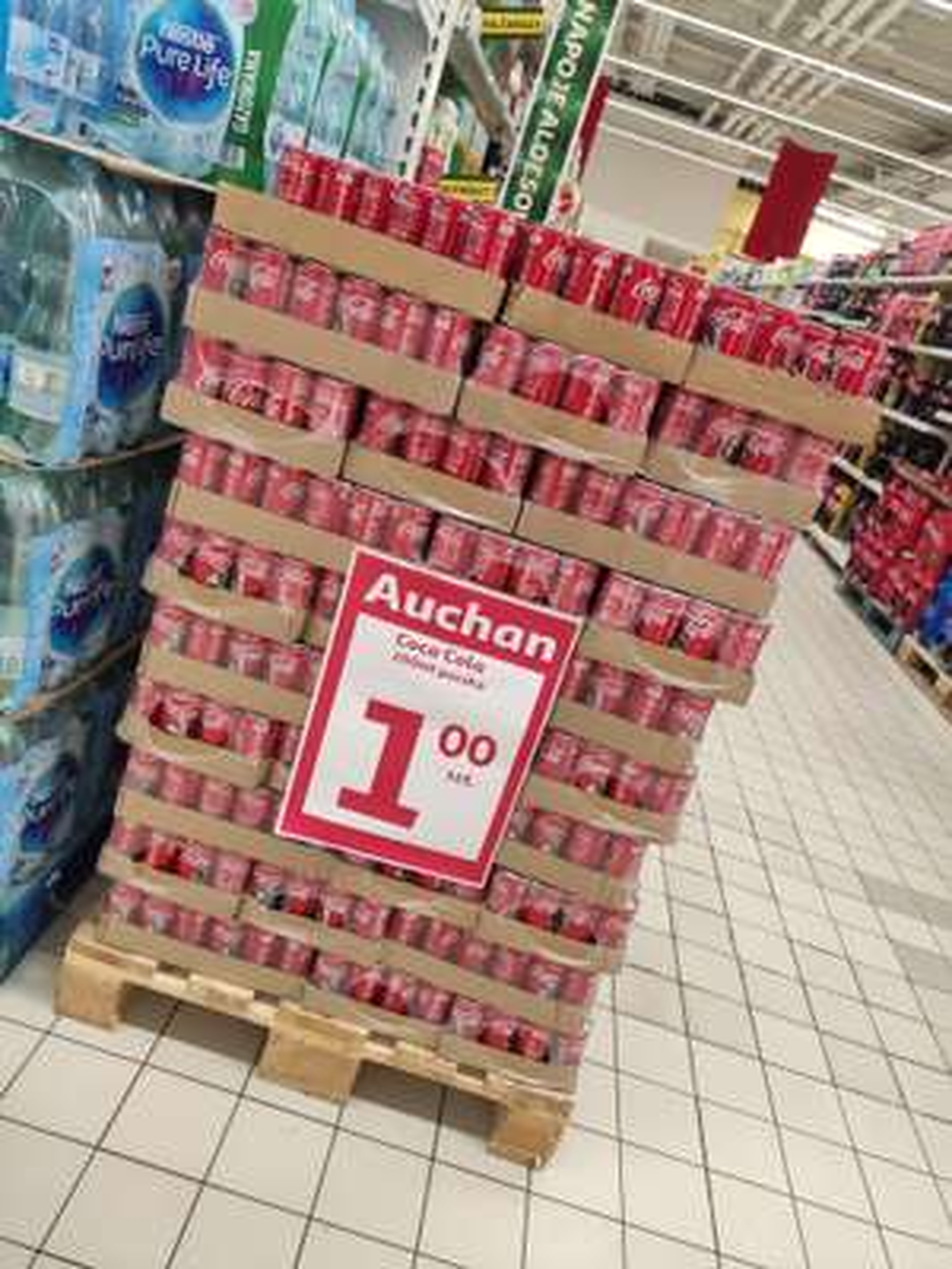 Coca Cola 200 ml 1zł |Auchan Warszawa Jubilerska