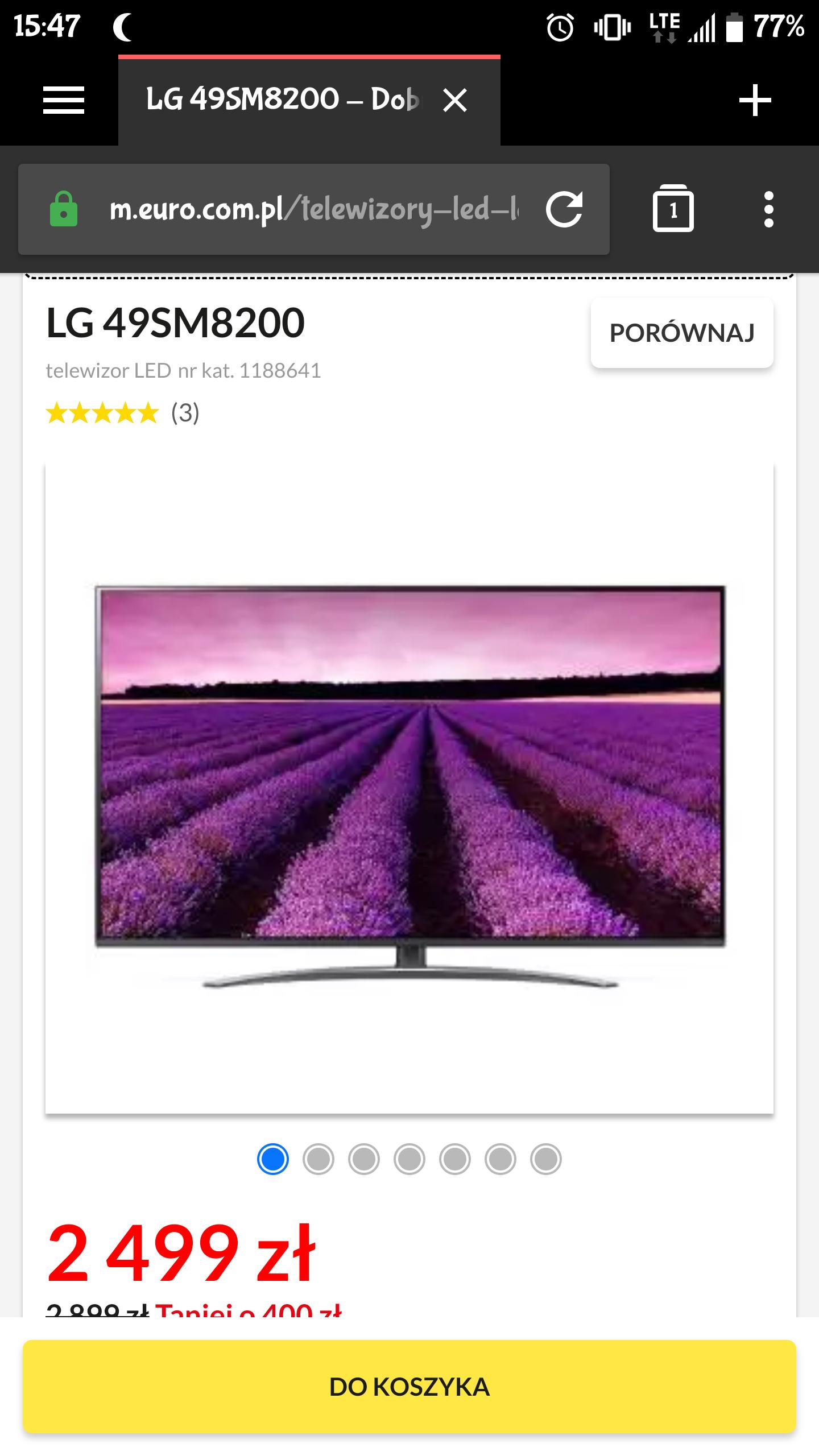 LG NanoCell TV 49SM8200 60Hz
