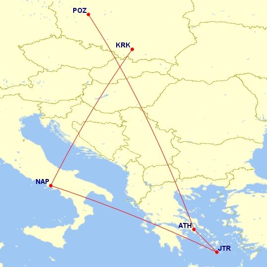 #Multicity [Ateny + Santorini + Neapol] Wylot z Poznania, a powrót do Krakowa