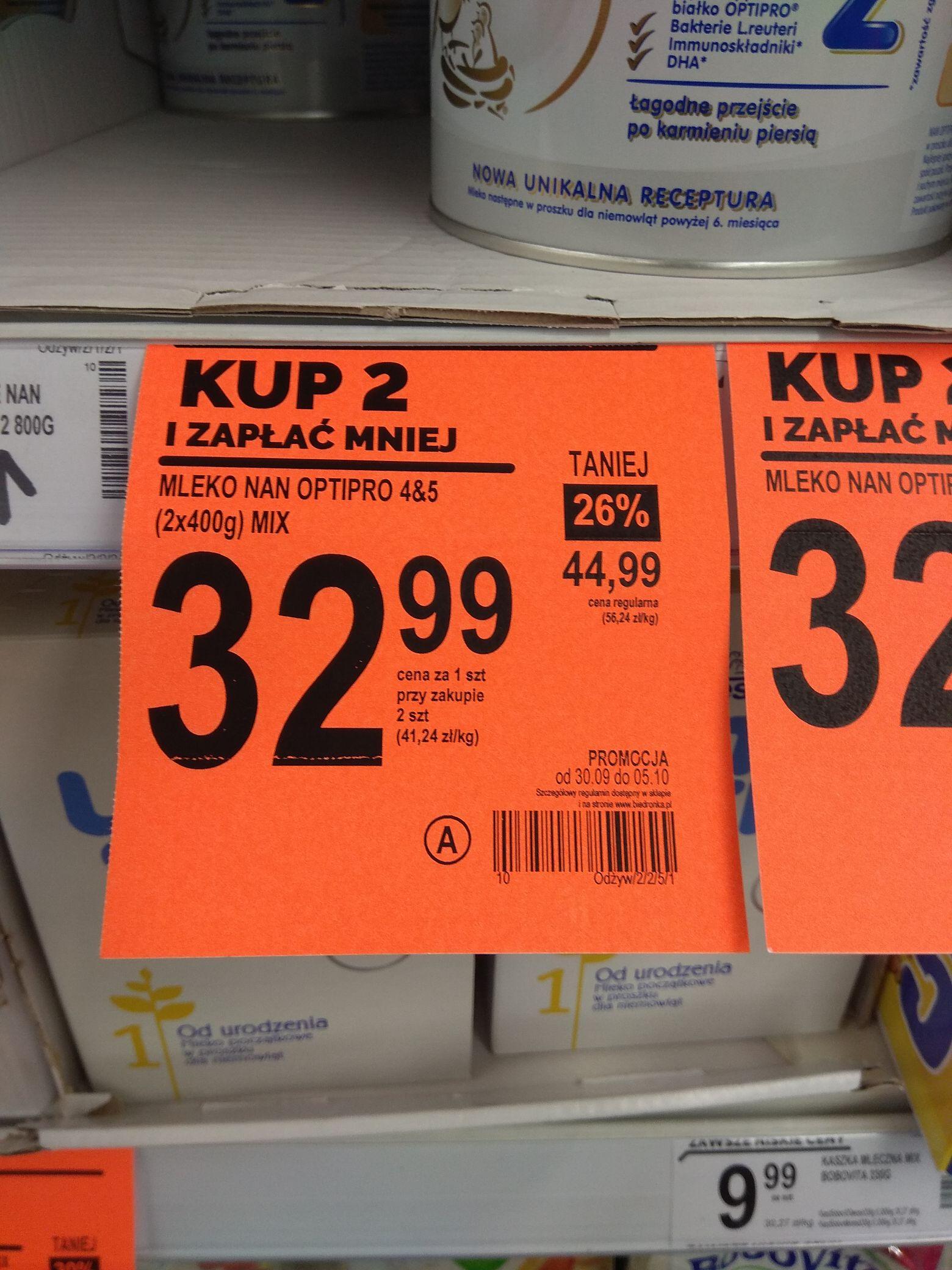 Mleko modyfikowane Nan Optipro 1, 2, 3, 4, 5