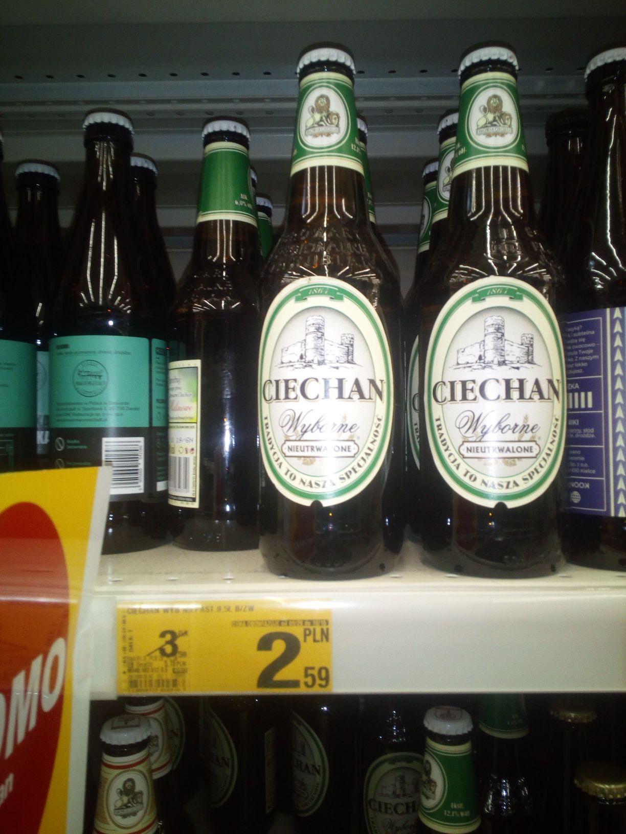 Piwo Ciechan Wyborne (Zielone ) Auchan Gdańsk Przymorze