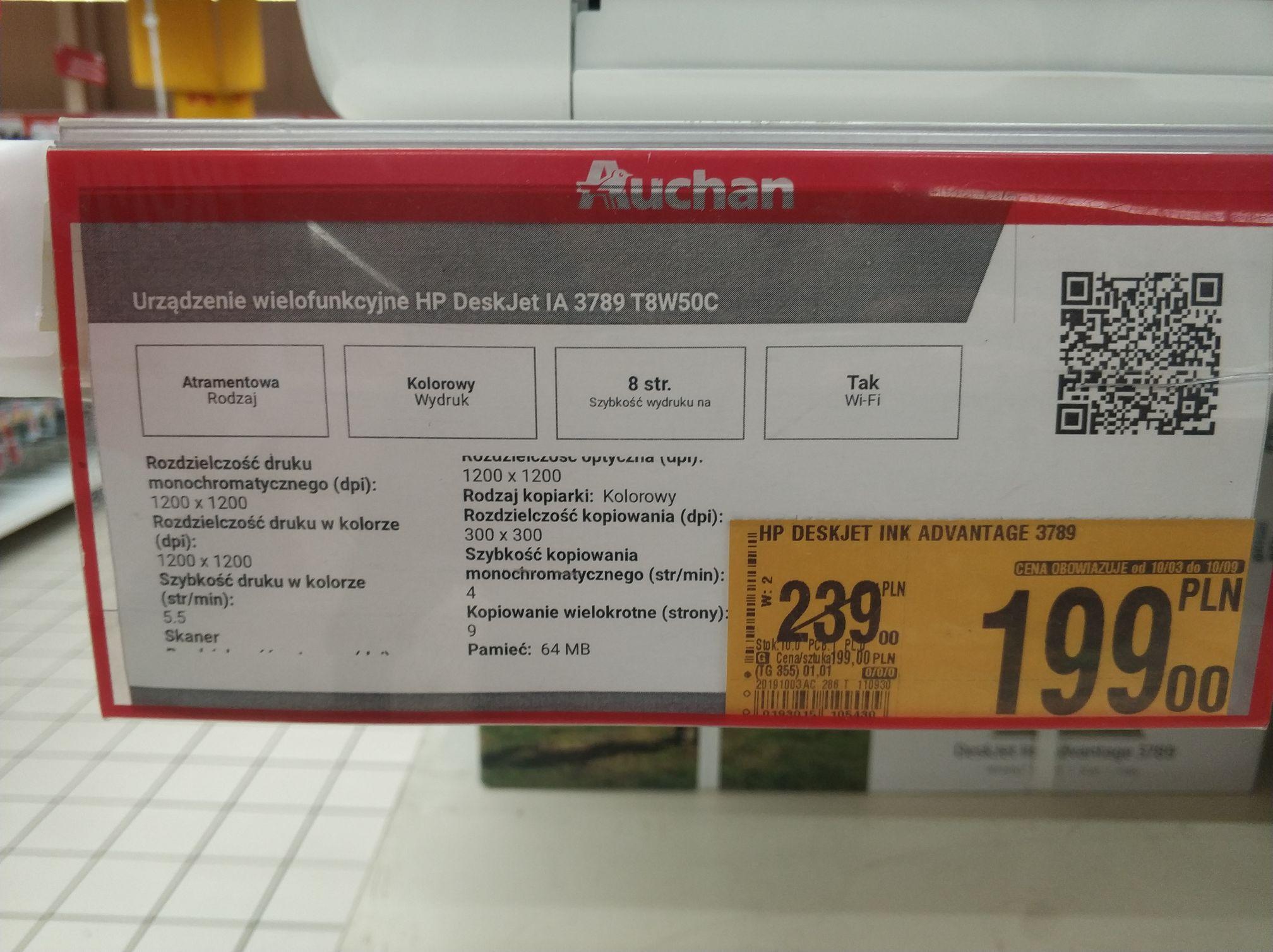 HP DeskJet INK 3789 - urządzenie wielofunkcyjne - Auchan