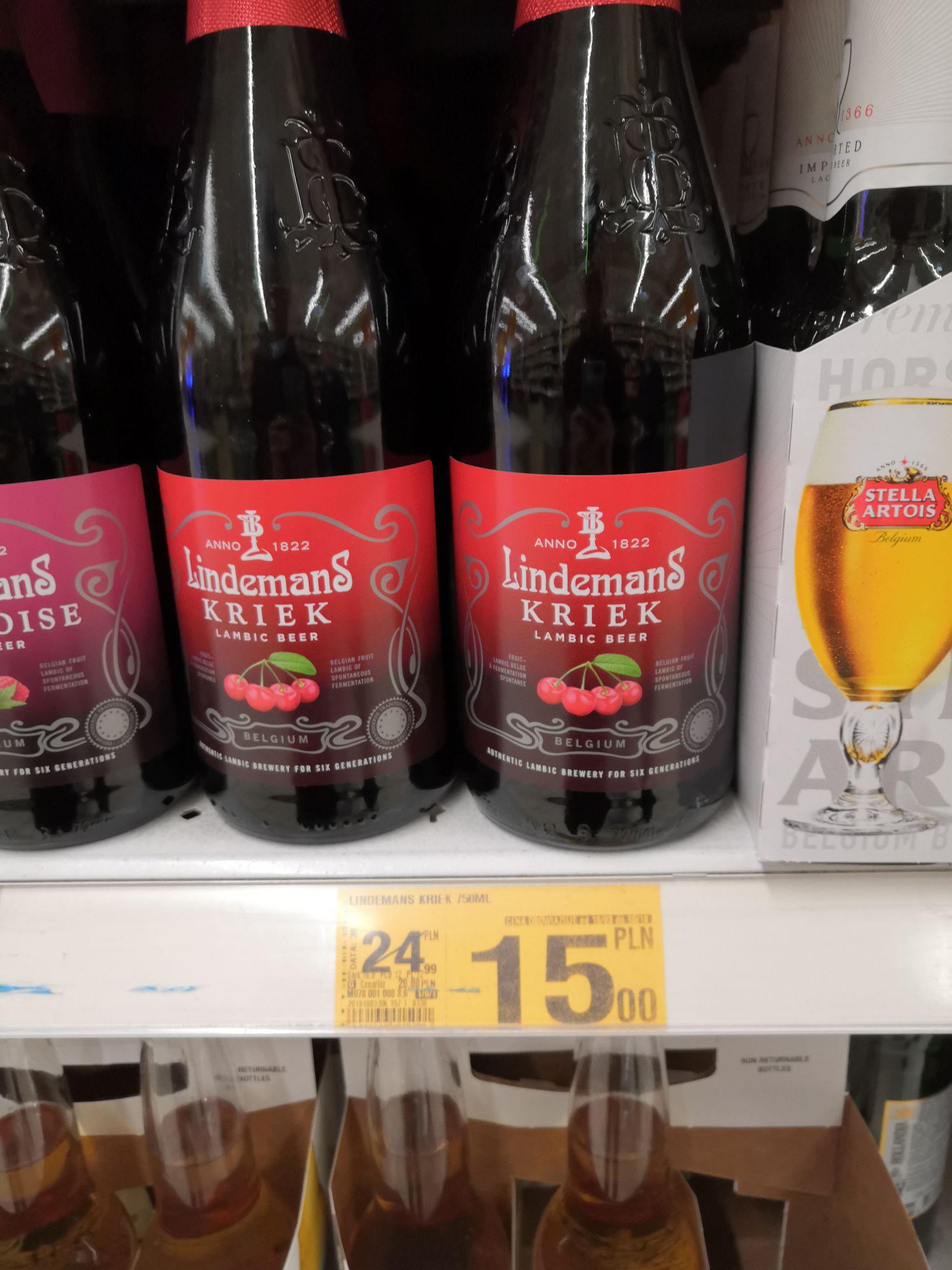 Piwo Lindemans Kriek 750ml Auchan Poczesna