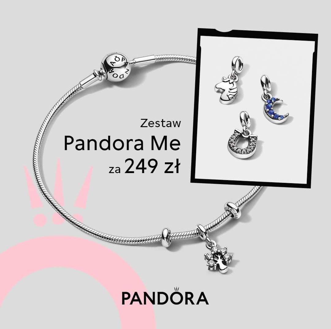 Zestaw startowy Pandora Me w wybranych salonach stacjonarnych Pandora