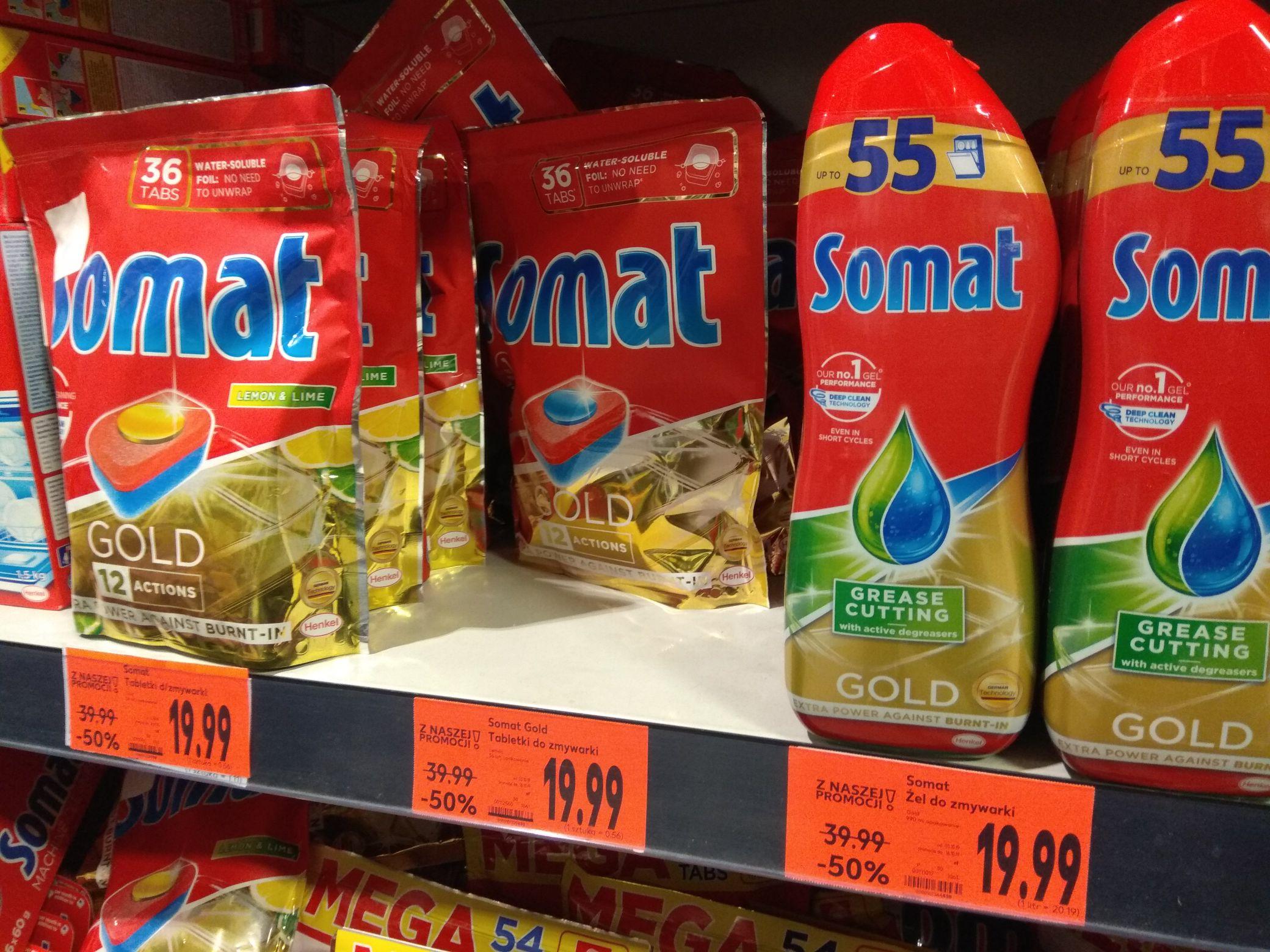 Tabletki do zmywarki/żel Somat