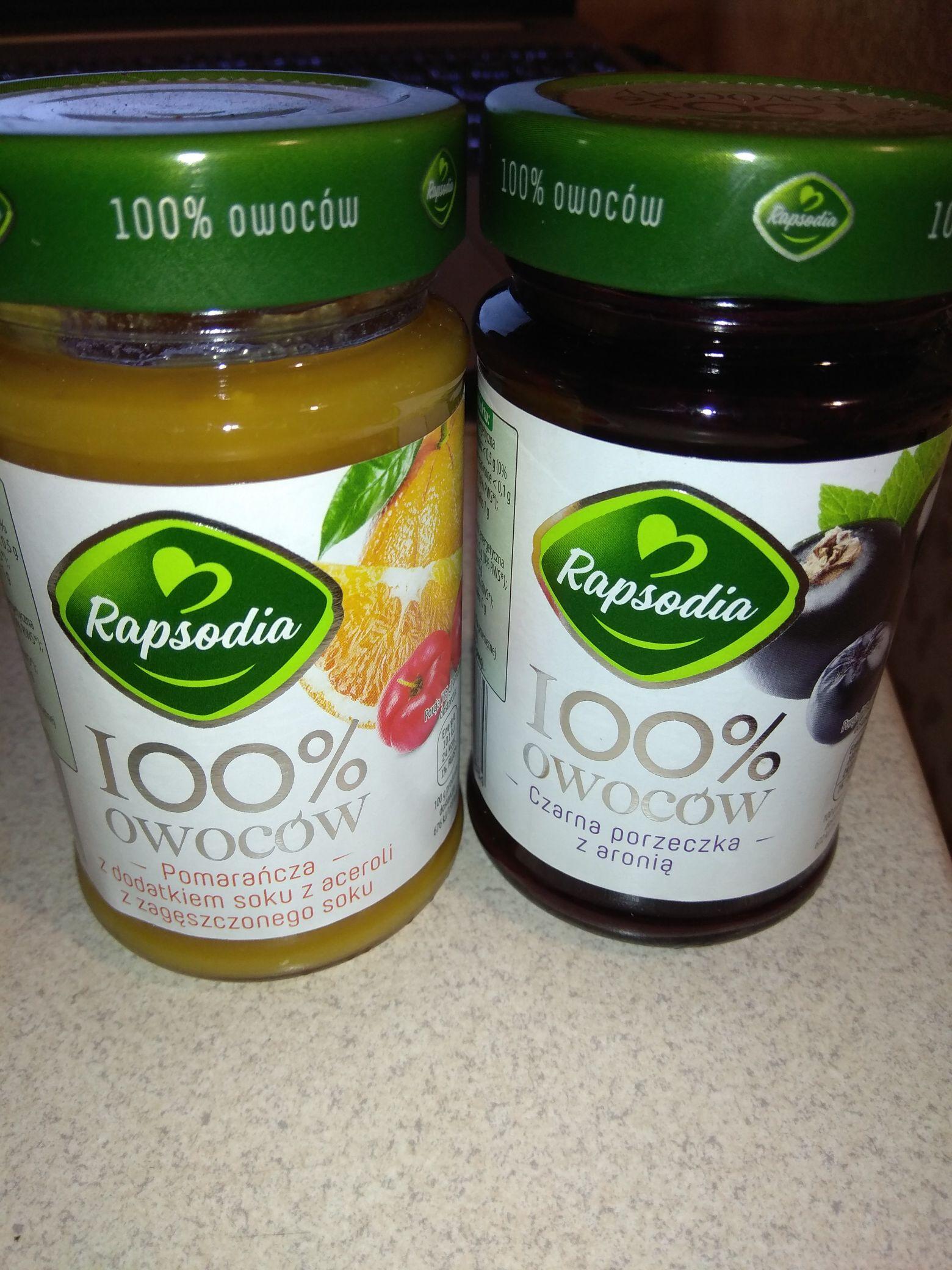 Dżem Rapsodia 100% owoców 220g Biedronka
