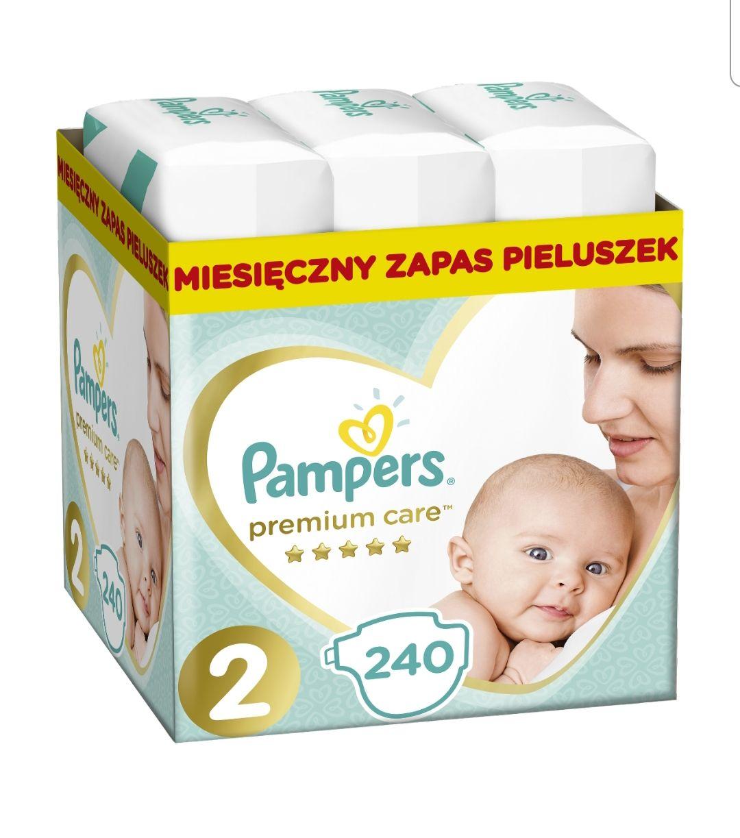 [Allegro smart] PAMPERS Pieluchy PREMIUM CARE 2 Mini 240 sztuk + 8 monet