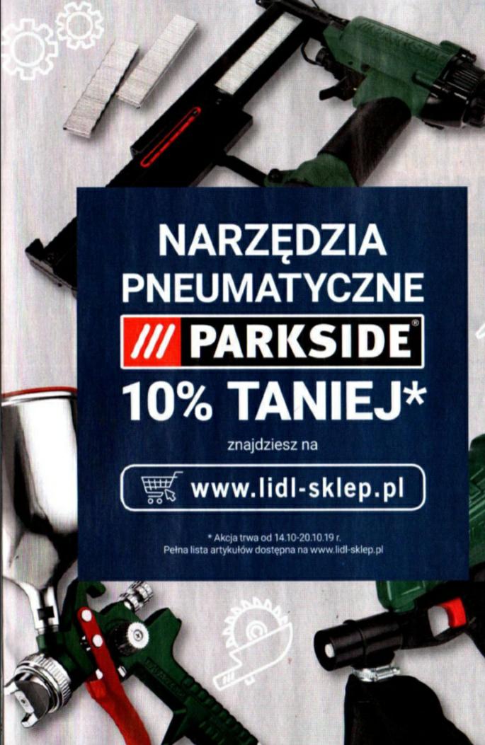 """LIDL """"Parkside"""" narzędzia pneumatyczne 10% taniej"""