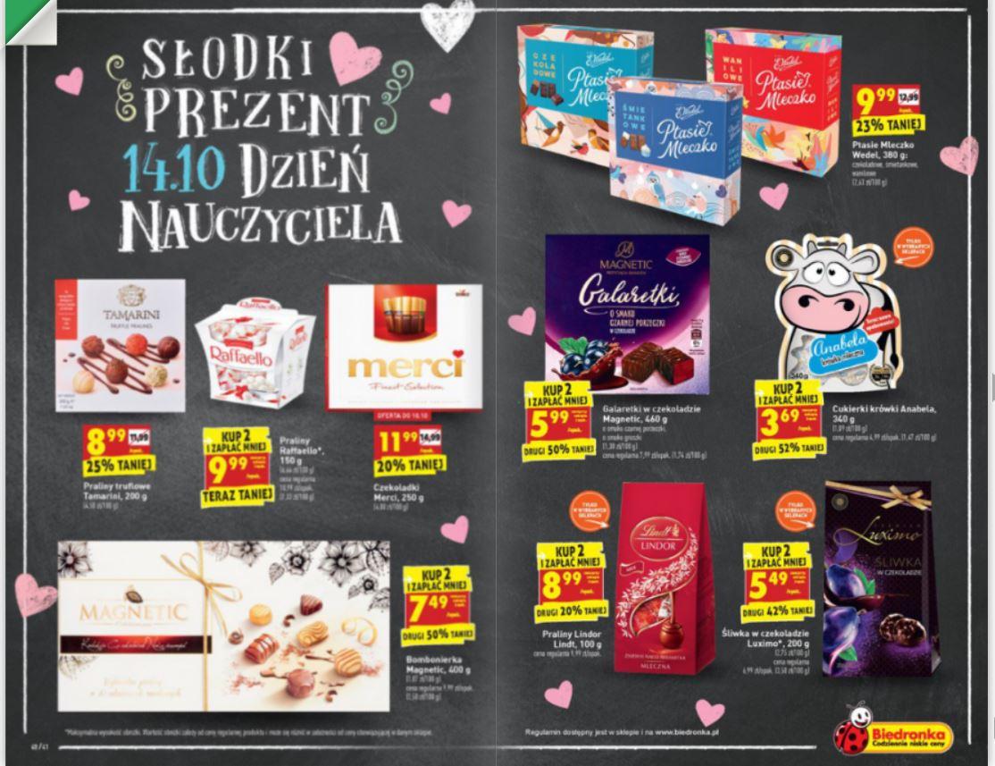 Słodki Prezent - słodycze w Bierdonka w obniżonych cenach na Dzień Nauczyciela