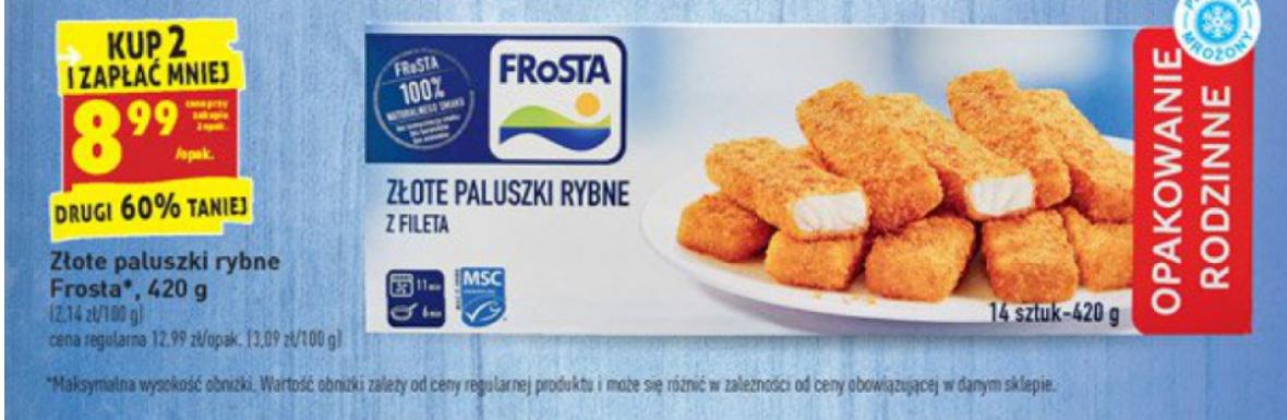 Frosta Paluszki rybne Biedronka
