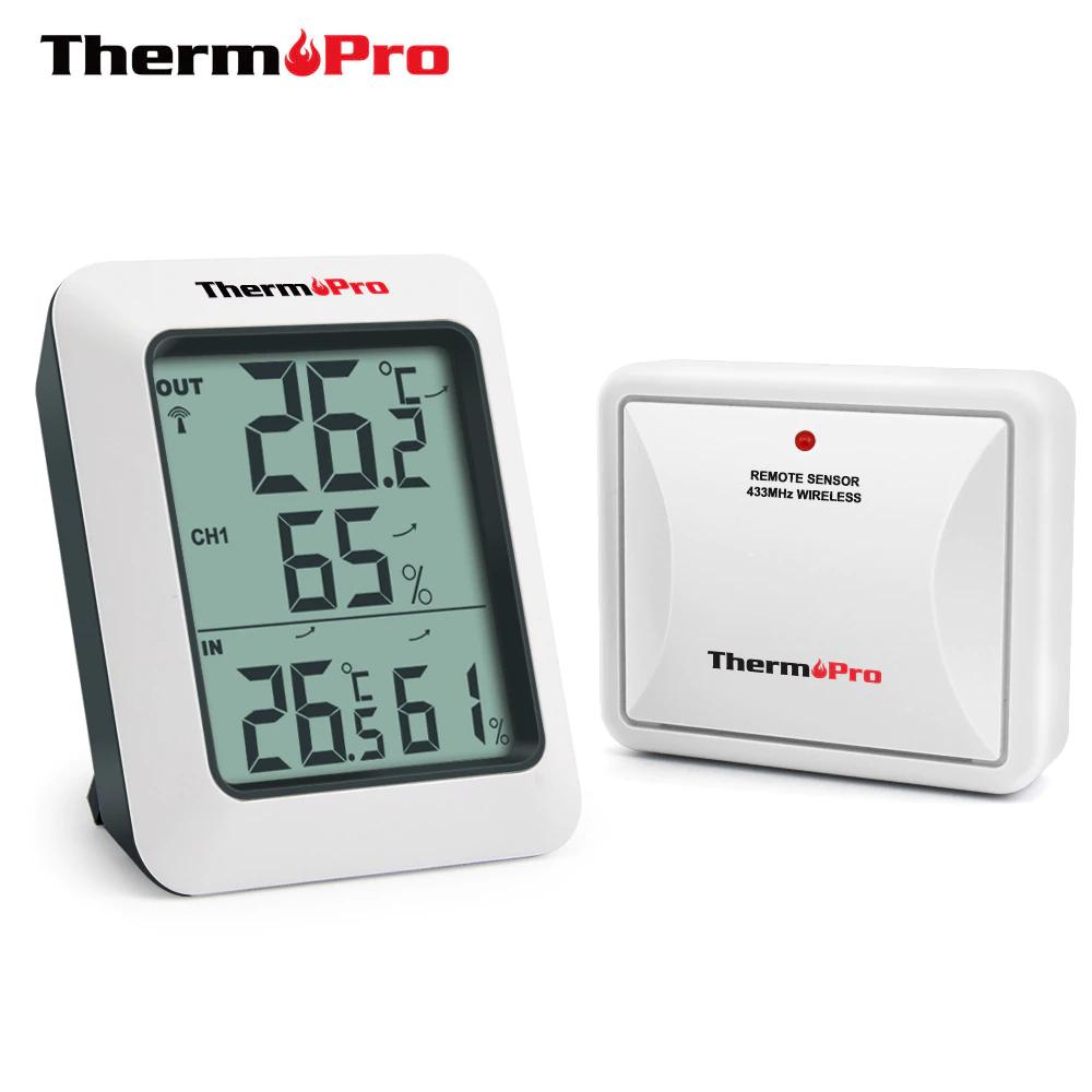 ThermoPro termometr higrometr wewnętrzny i zewnętrzny 11,99$ @AliExpress
