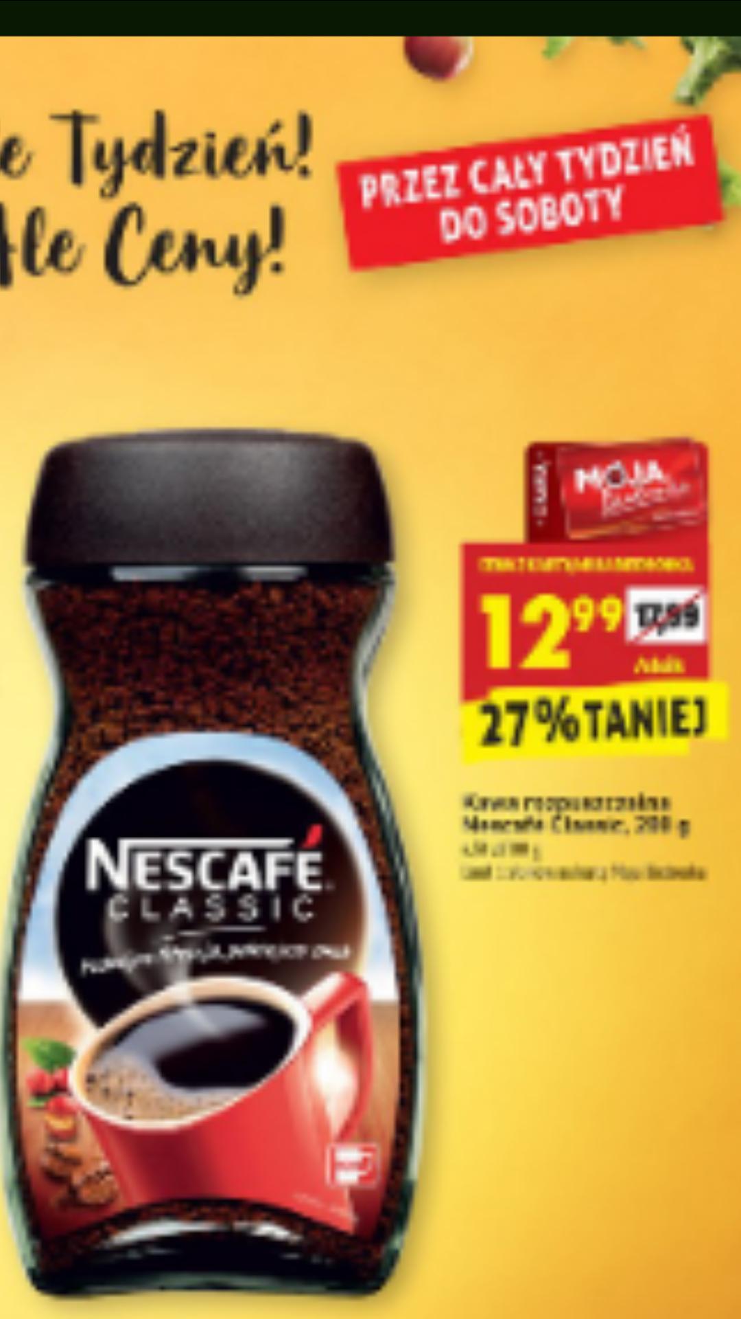 Kawa rozpuszczalna Nescafe classic - Biedronka