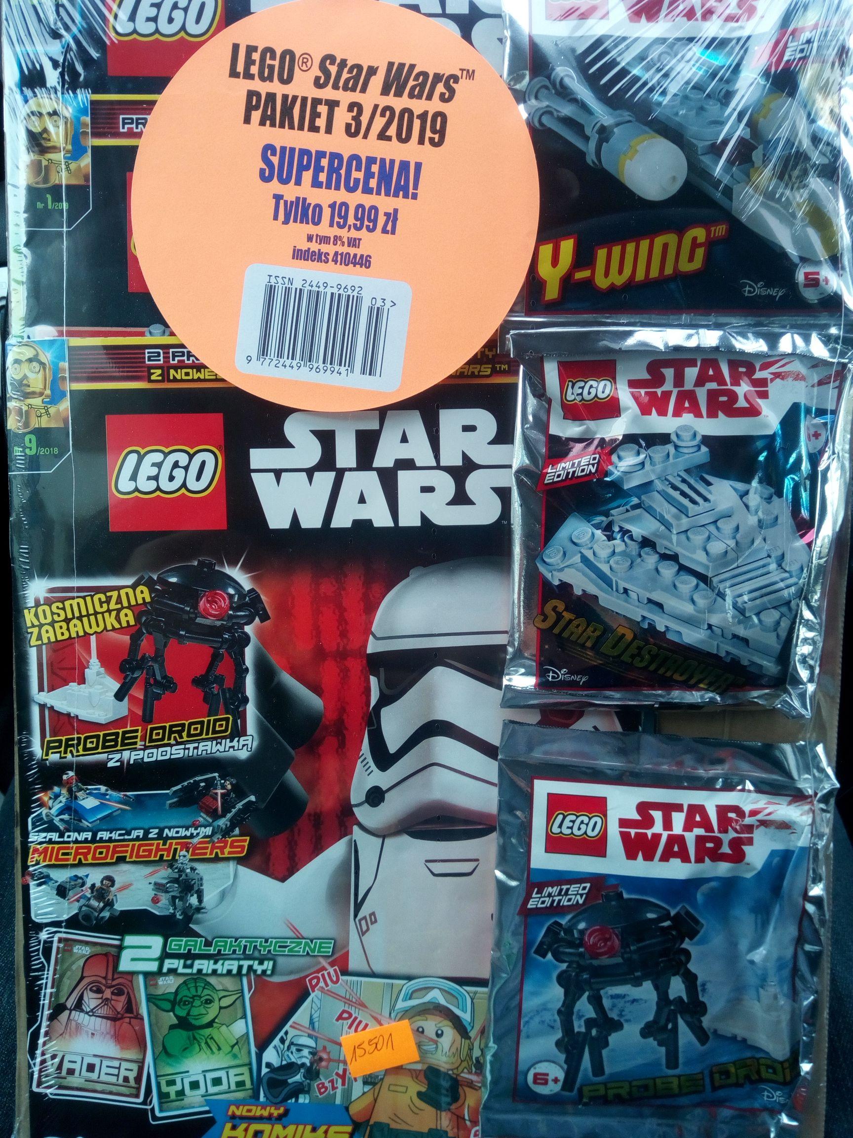 LEGO Star Wars z Y-wingiem, Star Destroyerem i Probe Droidem