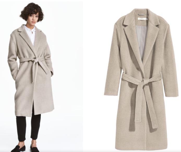Filcowany płaszcz z wełną