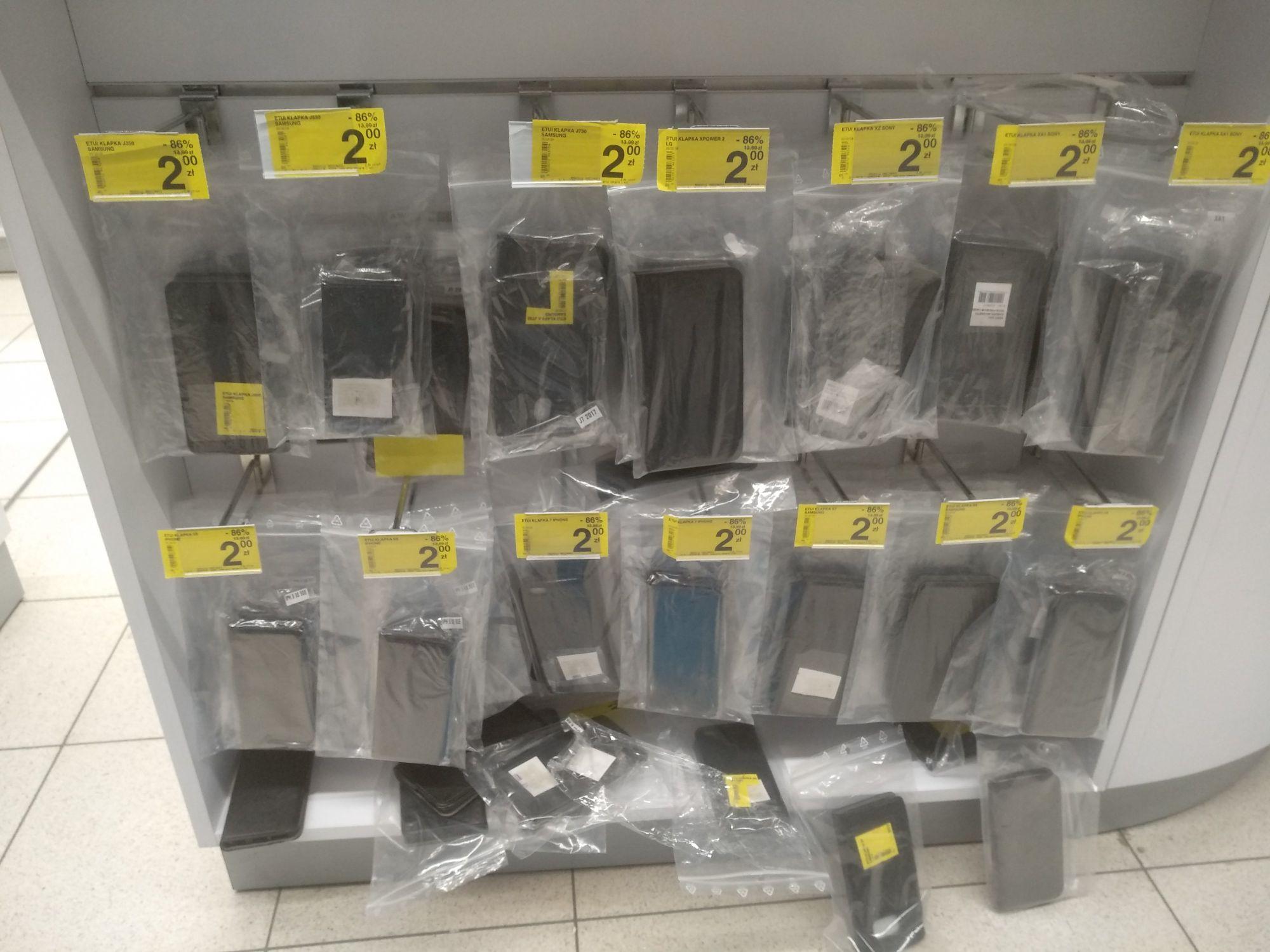 Przecena etui do telefonów w Carrefour