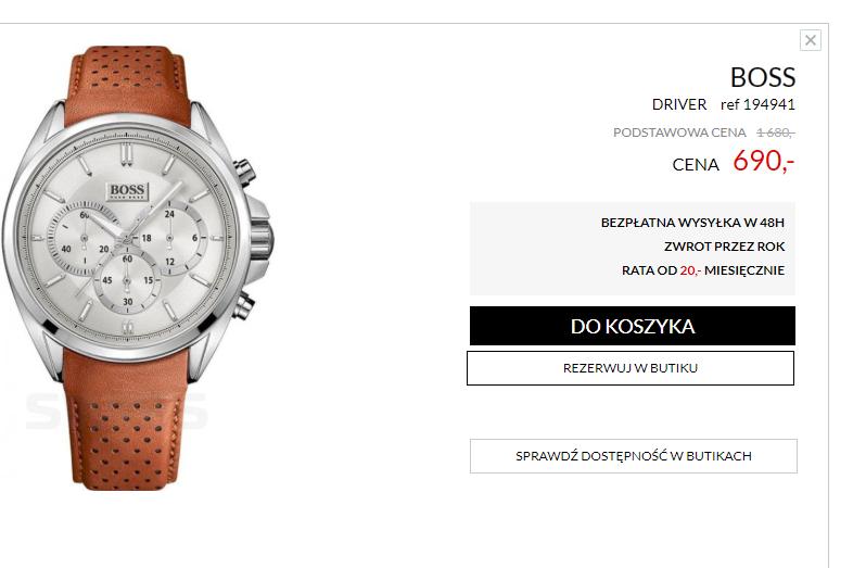 Wyprzedaż zegarków na stronie swiss.com.pl