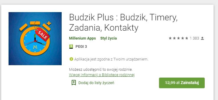 Budzik plus - aplikacja Android