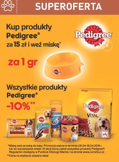 Miska za 1 GROSZ przy zakupie produktów Pedigree @ Carrefour