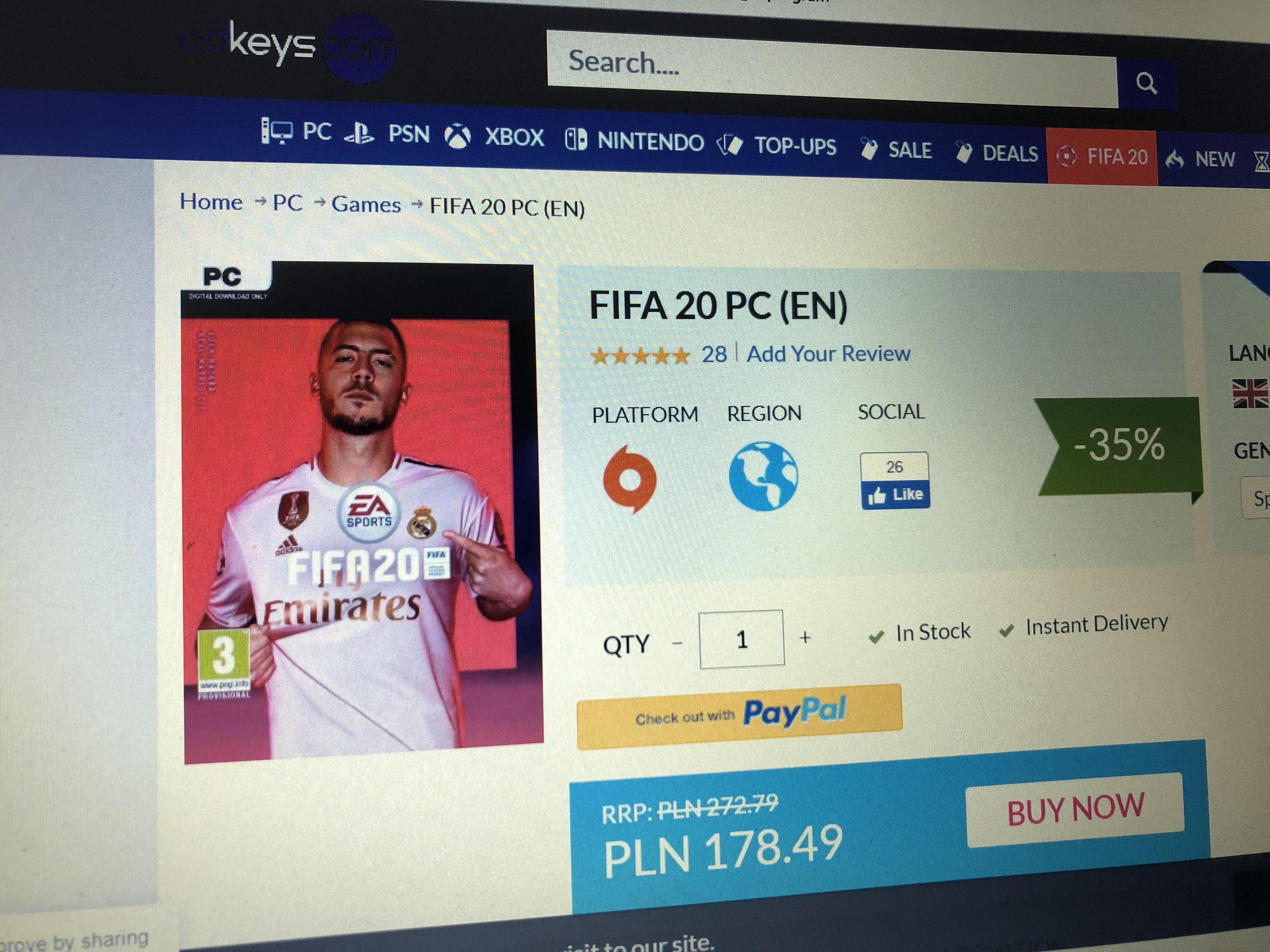 FIFA 20 PC (EN) Origin