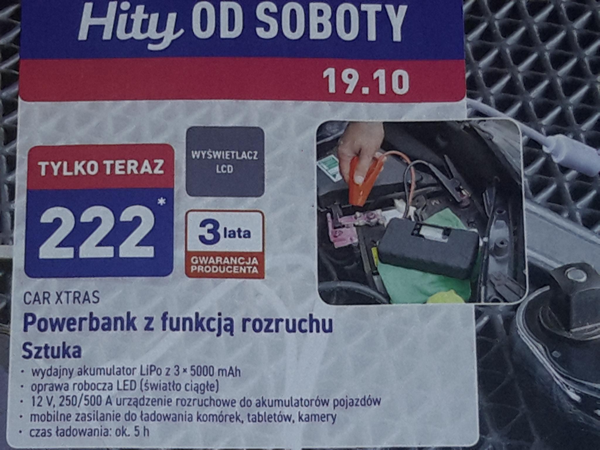 Aldi. 19.10.2019. Powerbank z funkcją rozruchu samochodu 3x5000 mAh.