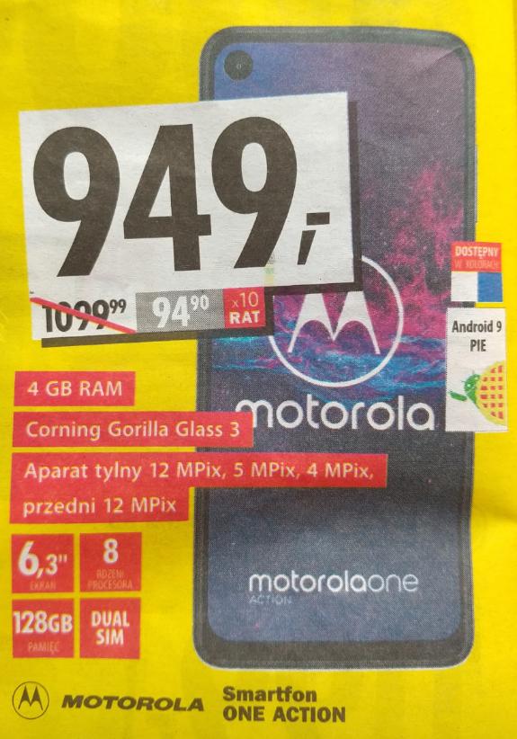 Motorola One Action taniej o 150 zł - Media Expert