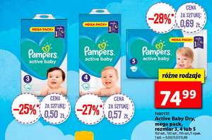 Pampers 3 Active Baby 152szt. w Lidlu.