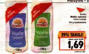 wafle ryżowe Sonko @ Kaufland