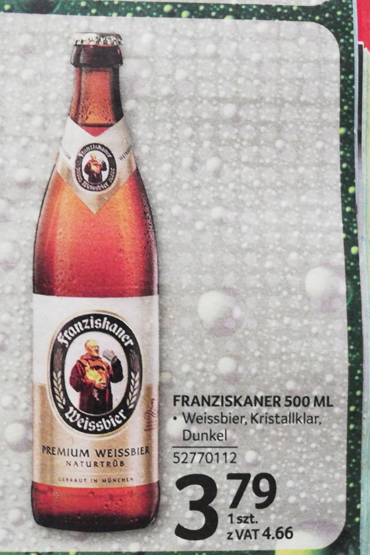 Piwo pszeniczne Franziskaner Weissbier w Selgrosie