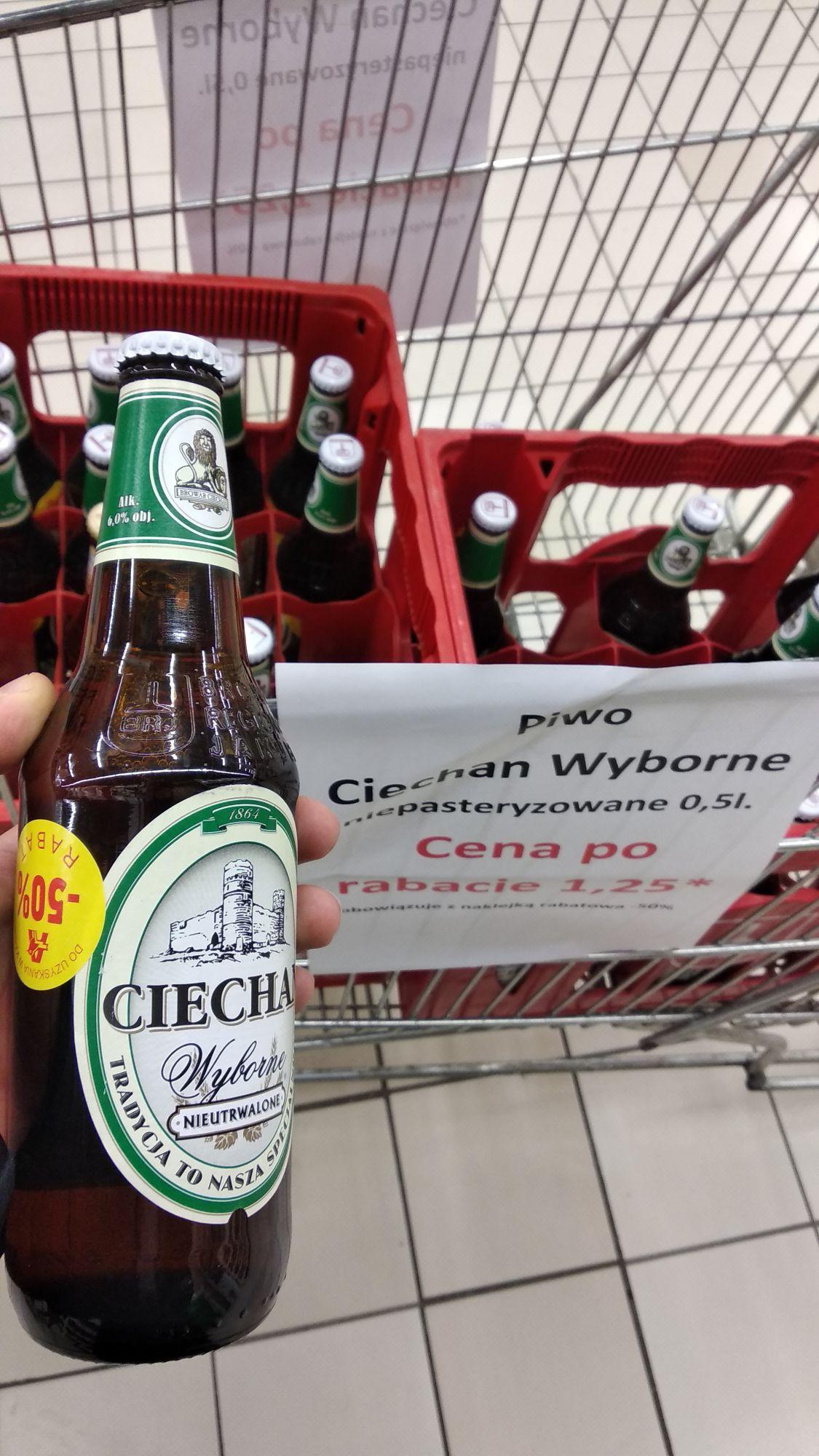 Piwo Ciechan Wyborne 0,5l @Auchan Gdańsk Szczęśliwa Karczemki