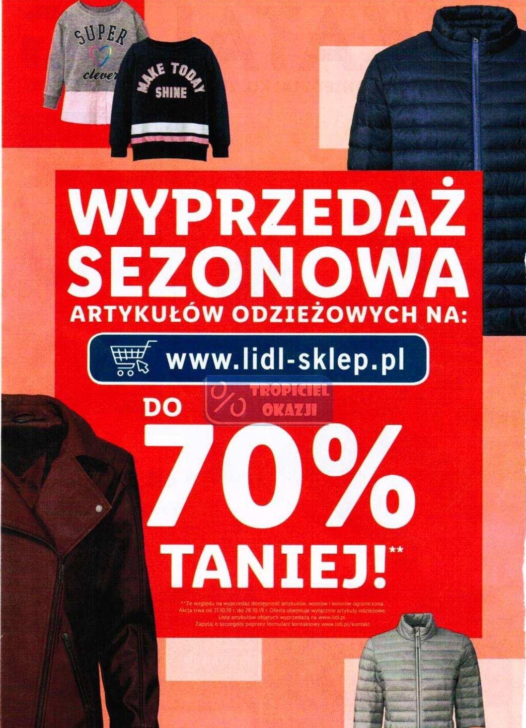 Wyprzedaż sezonowa do -70% Lidl sklep online