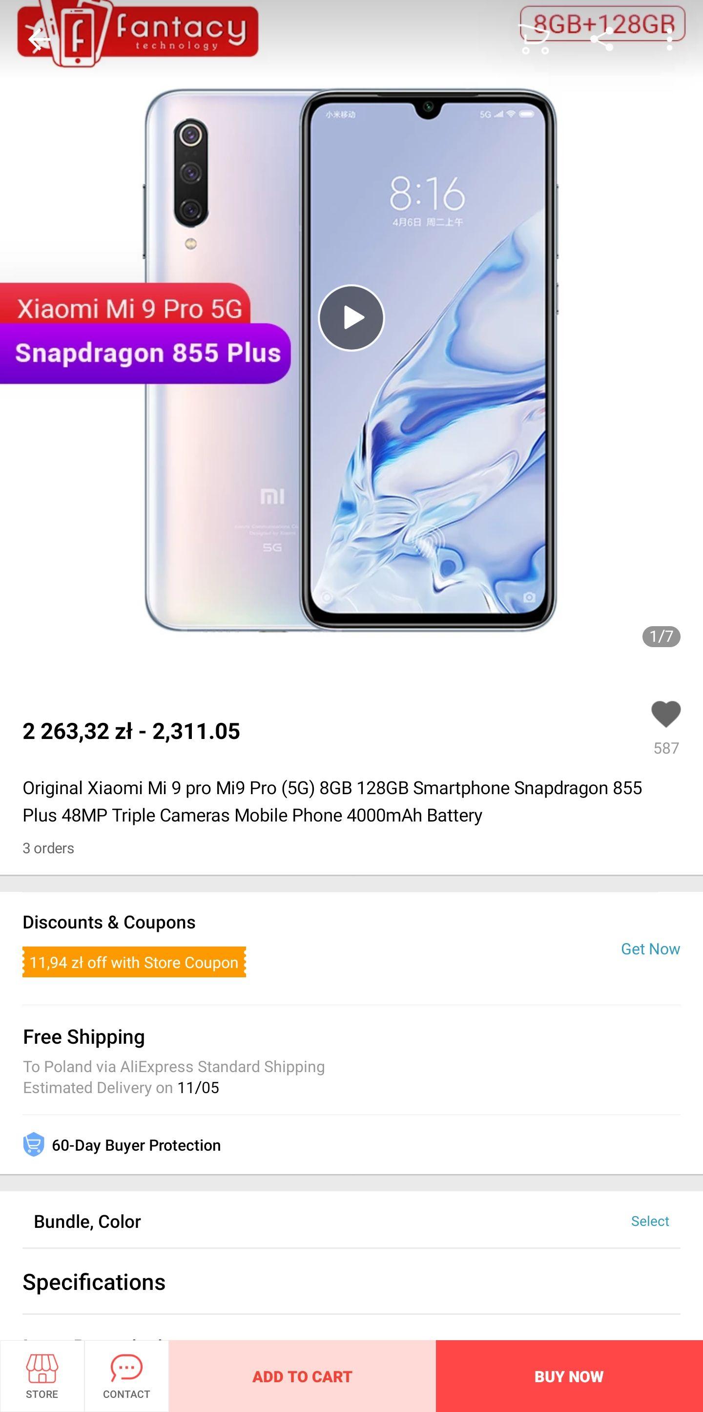 Xiaomi Mi 9 Pro 5G 8/128GB - najlepszy telefon Xiaomi na rynku