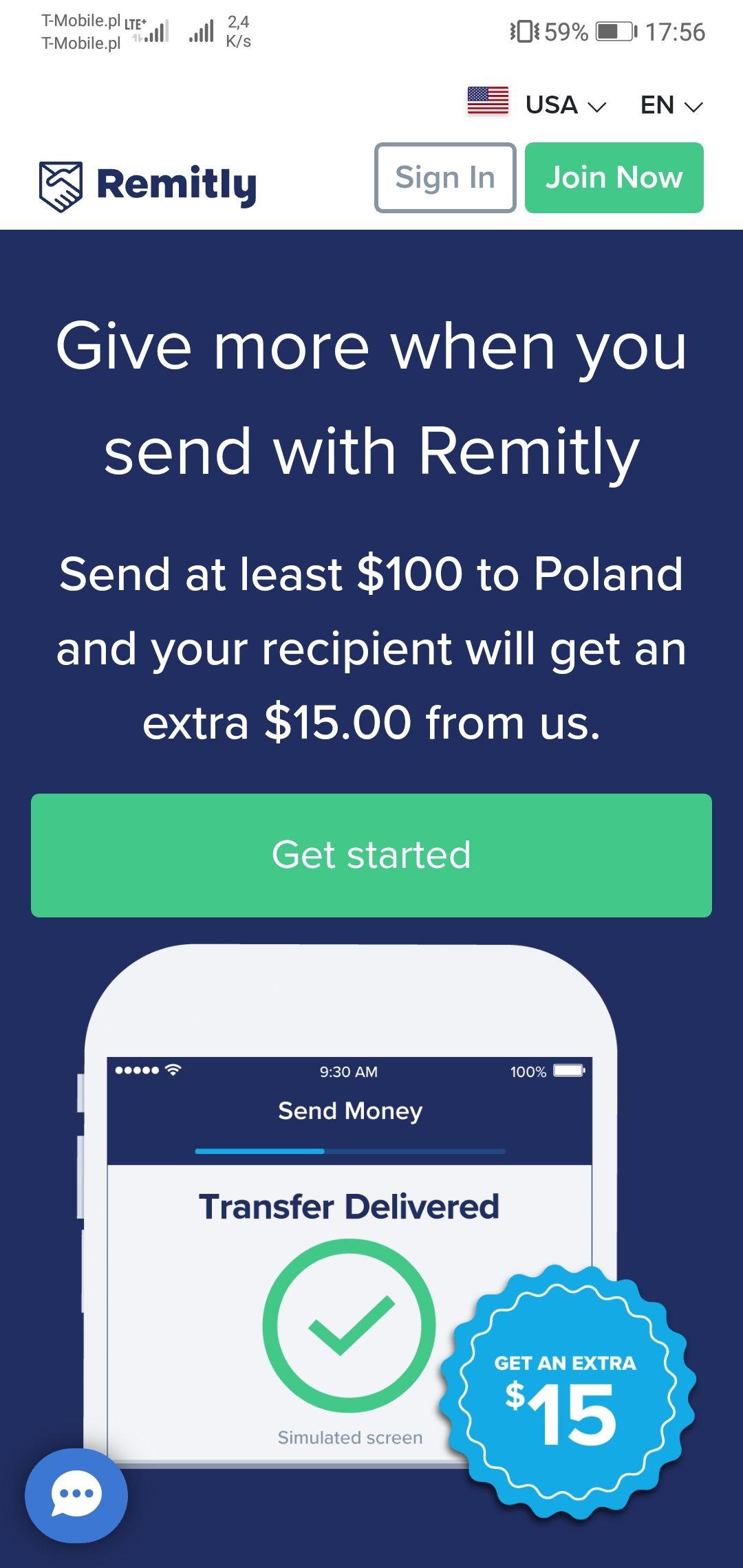 Darmowe 15$ za założenie konta w aplikacji Remitly