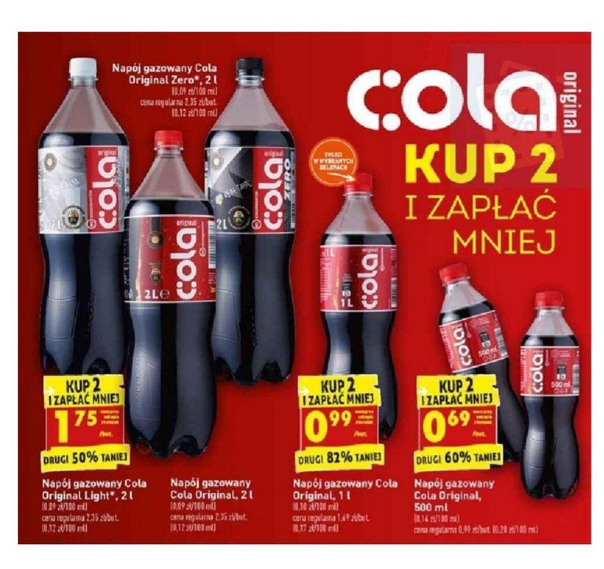 Cola original. Kup 2 i zapłać mniej. Biedronka